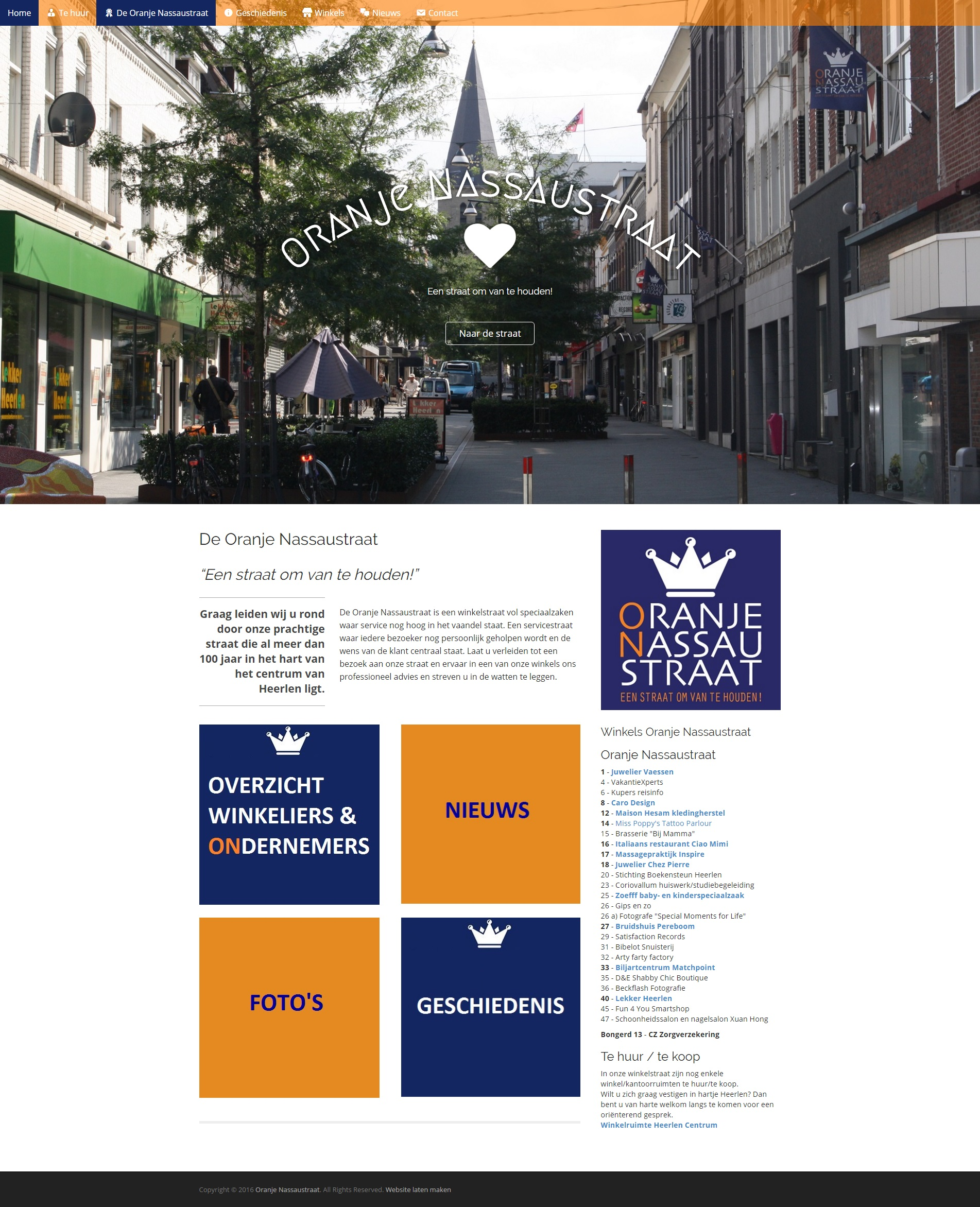 WordPress website winkeliersvereniging