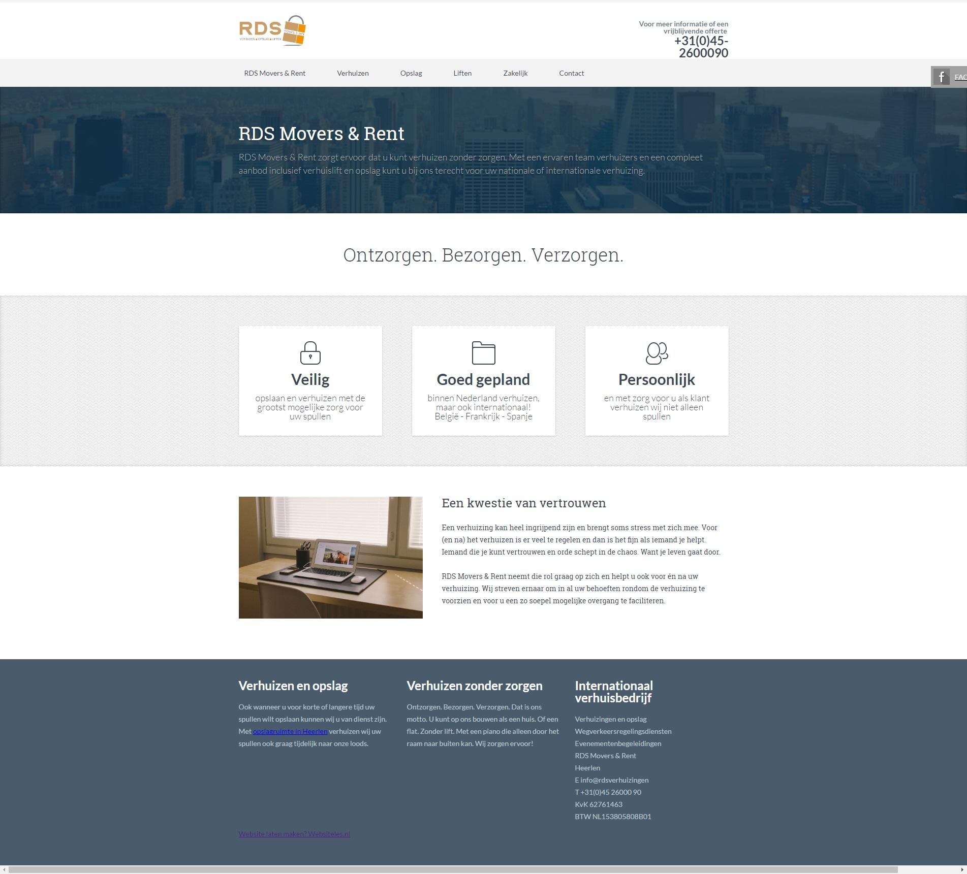 Website verhuisbedrijf