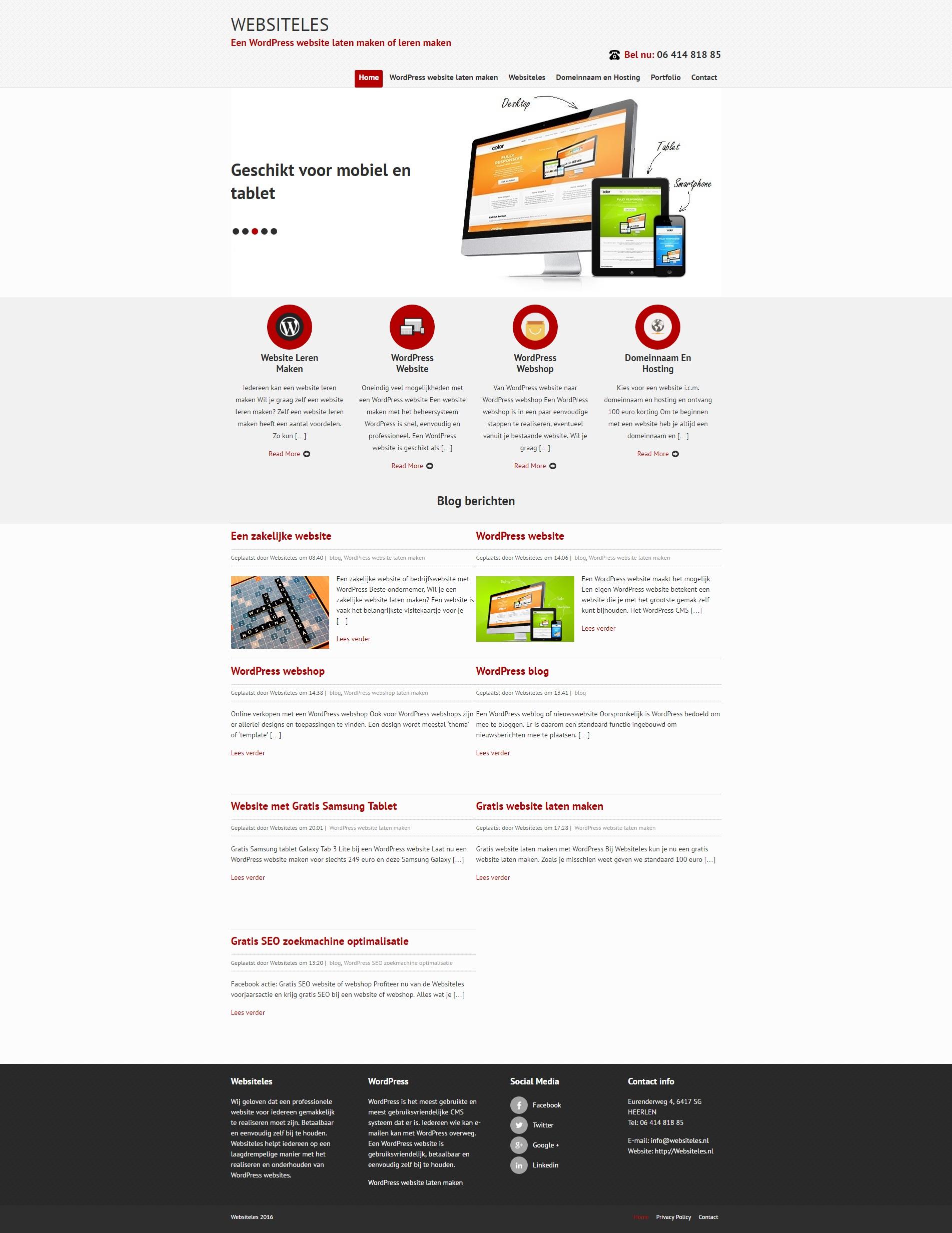Websiteles website 2016